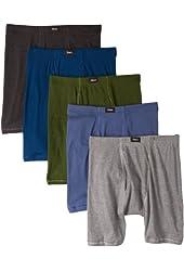 Hanes Classics Mens Comfort Soft Waistband Boxer Briefs Assorted L Hanes (Pack of 5)