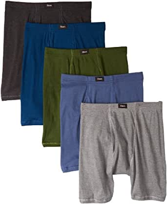 Hanes Men's 5 Pack Ultimate Comfort Soft Waistband Boxer Brief - Colors May Vary, Assorted Colors, Small