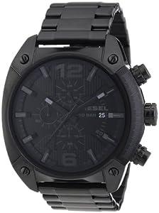 Diesel - DZ4223 - Montre Homme - Quartz Chronographe - Chronomètre - Bracelet Acier Inoxydable Plaqué Noir