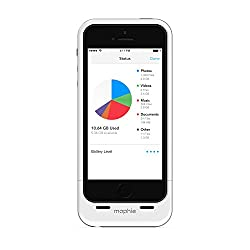 mophie Space pack for iPhone 5/5S with 16GB Built-in Storage (1,700mAh) - White