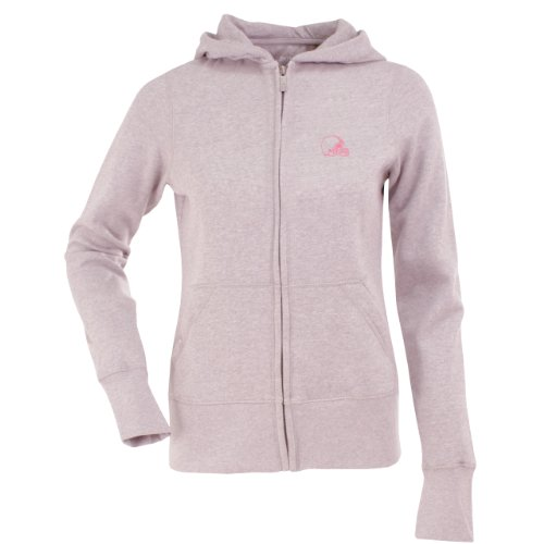 NFL Women's Cleveland Browns Signature Full Zip Hood (Mid Pink, Medium) at Amazon.com