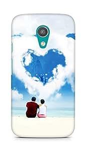 Amez designer printed 3d premium high quality back case cover for Motorola Moto G2 (Love Dreams)