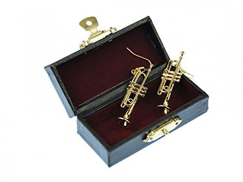 Trompetenohrringe-Ohrringe-Trompete-Miniblings-Blasmusik-Kapelle-vergoldet-Box