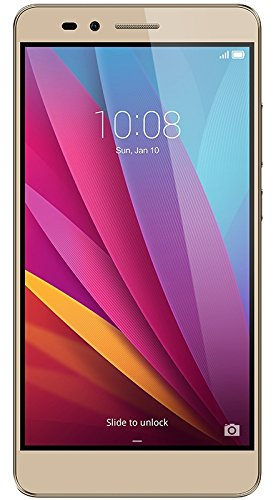 Honor 5X Smartphone, 5.5 Pollici, WiFi 802.11 b/g/n, Bluetooth 4.1, 1.5 GHz Octa-Core, Qualcomm, 2 GB RAM, 16 GB Memoria Interna, Fotocamera da 13 MP/5 MP, LTE, Android 5.1, Oro