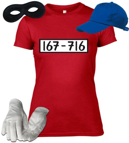 shirtstreet24 gangster damen kost m set f r panzerknacker. Black Bedroom Furniture Sets. Home Design Ideas