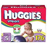Huggies Diapers Size5 Quantity 176 LeakLock protection Large