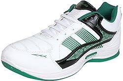 Columbus Mens White, Black & Green Mesh Shoes (6 UK)