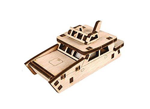 Desktop Wooden Model Kit Run! Catamaran boat / YG861-23 - 1