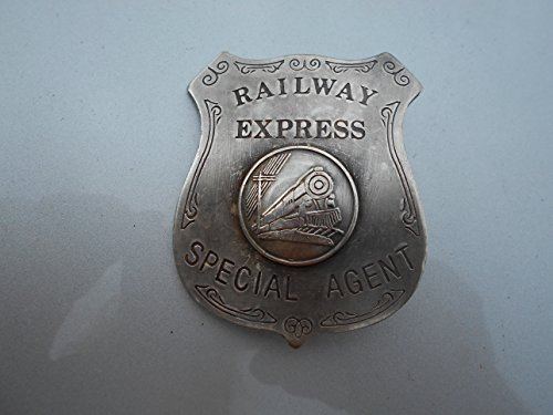Railroad RR Railway Express Special Agent Badge Costume Prop