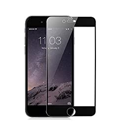 Full Screen Tempered Glass Screen Protector for iPhone 6 4.7 inch (Black, for Space Gray iPhone)