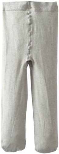 Jefferies Socks Little Girls' Pima Cotton Tights, Grey Heather, 8-10 Years front-81850