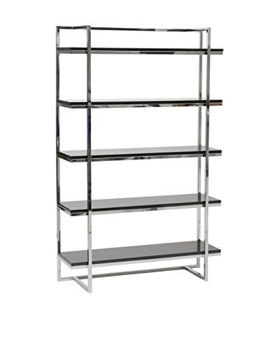 Euro Style Gilbert 5-Shelf Unit, Black