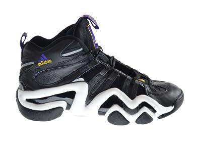 Adidas Crazy 8 Men's Basketball Shoes Aluminum Black/Running White g48591 (10.5 D(M) US)