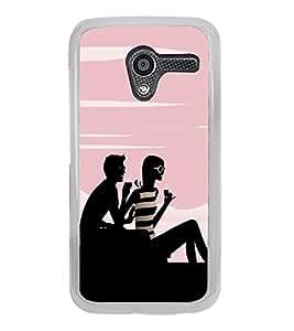 Boy and a Girl 2D Hard Polycarbonate Designer Back Case Cover for Motorola Moto X :: Motorola Moto XT1052 XT1058 XT1053 XT1056 XT1060 XT1055
