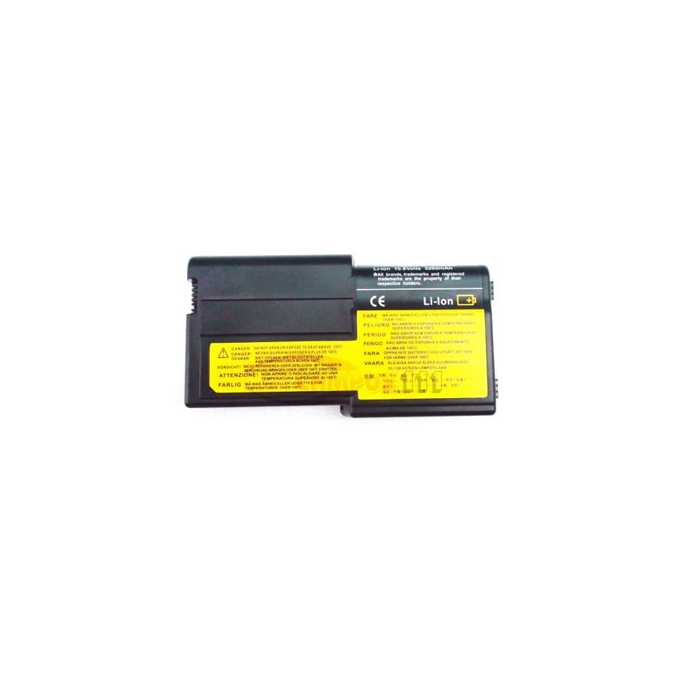 High Performance 5200Mah 6 Cells 10.8V Laptop Battery for IBM ThinkPad R40e Series(Not Applicable ThinkPad R40/R32/R31/R30 Series), ThinkPad R40E 2684, ThinkPad R40E 2685 series 08K8218, 92P0987, 92P0988, 92P0989, 92P0990, FX00364