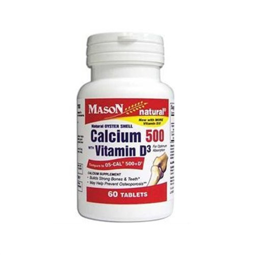 Mason Natural Calcium 500 With Vitamin D3 Tablets - 60 Ea