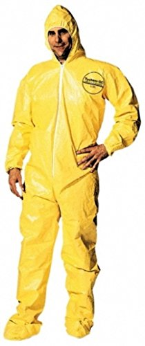 Dupont Large Yellow Tychem Qc Chemical Protection Coveralls picture