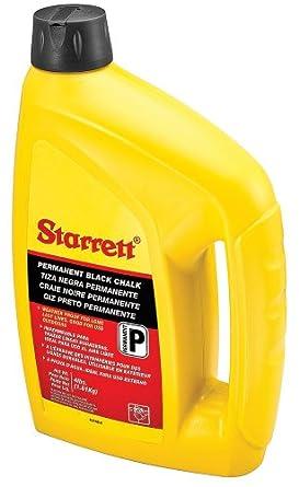 Starrett SUC4BLK Ultra Chalk, Permanent Black, 4lb Capacity