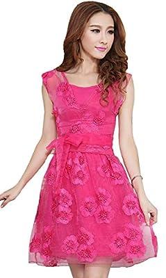Dress({Fashion World_Pink_Crepe Net_Embroidery_Women's Dress})