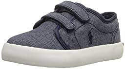 Polo Ralph Lauren Kids Ethan Low EZ Fashion Sneaker (Toddler), Navy, 5 M US Toddler