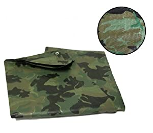 Yuzet 1.8m x 2.4m camouflage tarpaulin waterproof sheet cover ground camo