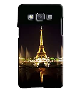 Omnam Eiffil Tower Printed Designer Back Cover Case For Samsung Galaxy E5