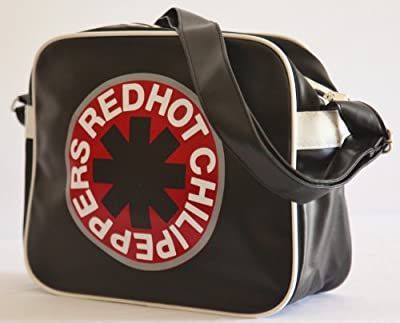 Red Hot Chili Peppers Shopping Shoulder Messenger Bag in Black