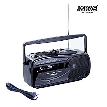 Jaras JJ-2618 Limited Edition Portable Boombox Tape Cassette Player/recorder with AM/FM Radio Stereo Speakers & Headphone Jack