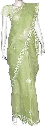 Designer Saree in Cotton Chikan Embroidery Purple (ochsari097)