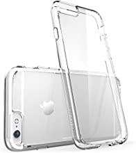 iPhone 6 Case, [Scratch Resistant] i-Blason **Clear** [Halo Series] Apple iPhone 6 4.7 inch Hybrid Bumper Case Cover (Clear)