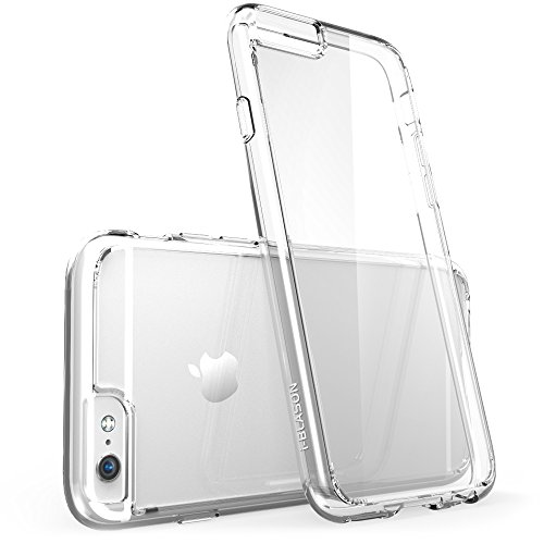 iPhone 6 Plus Case , [Scratch Resistant] i-Blason **Clear** [Halo Series] Apple iPhone 6 Plus Hybrid Bumper Case 5.5 inch Cover (Clear)