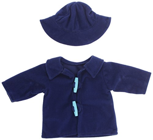 "Miniland Blue Duffle Coat with Hat for 15 3/4"" Dolls"