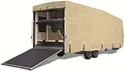 Goldline Toy Hauler RV Cover - Fits 30 to 32 FT. Trailer - TAN