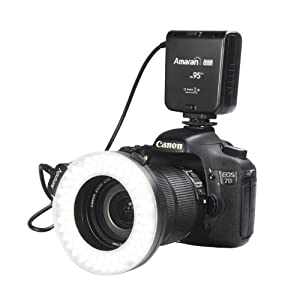 Aputure Amaran Halo AHL-H100 LED Ring Flash Light for Canon Cameras