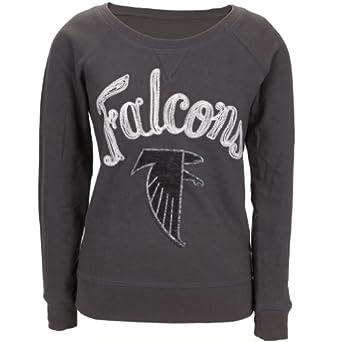 Atlanta Falcons - Field Goal Juniors Wide Neck Sweatshirt Grey by Atlanta Falcons