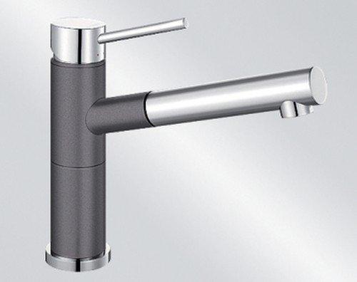Blanco Alta-S Compact Felsgrau Spültisch Hochdruck Armatur Küche Wasserhahn