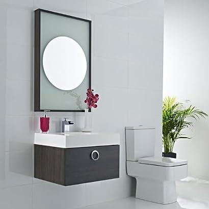 Meuble sous lavabo suspendu 400x600x480mm miroir paimpol for Meuble lavabo miroir