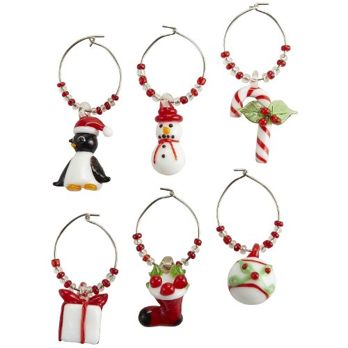 Pier I Imports Christmas Icon Drink Charm Set- (6 Charms) (Pier One Imports Wine Glasses compare prices)