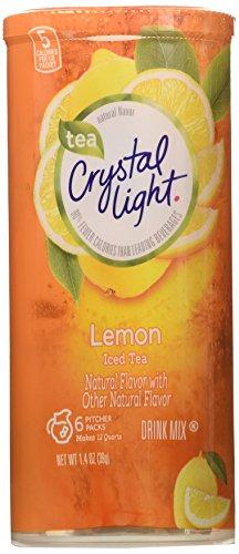 Crystal Light Iced Tea Drink Mix, Natural Lemon Flavor (12-Quart), 1.4-Ounce Packages (Pack of 4) (Crystal Light Tea Lemon compare prices)