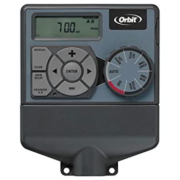 Orbit 57876 Indoor Dual 6-Station Timer for Sprinkler Control for Outdoor Underground Sprinkler System