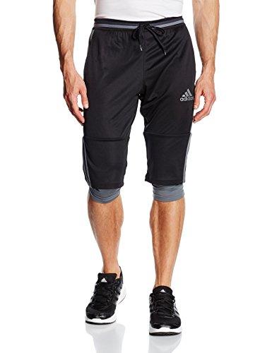 Adidas - pantaloni a 3/4 per il tempo libero, da adulto, Uomo, 3/4 Hose Condivo 16, Black/Vista Grey, L