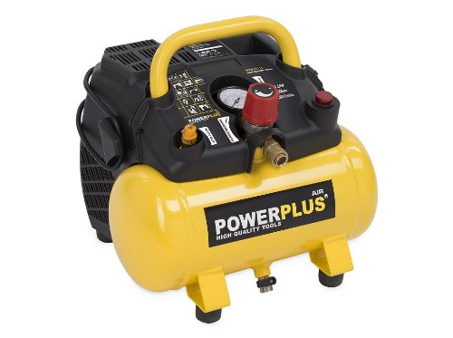 Powerplus-kraftvoller-Druckluft-Kompressor-1100-Watt-Leistung-15-PS-6-Liter-Tank-Art-Nr-POWX1721