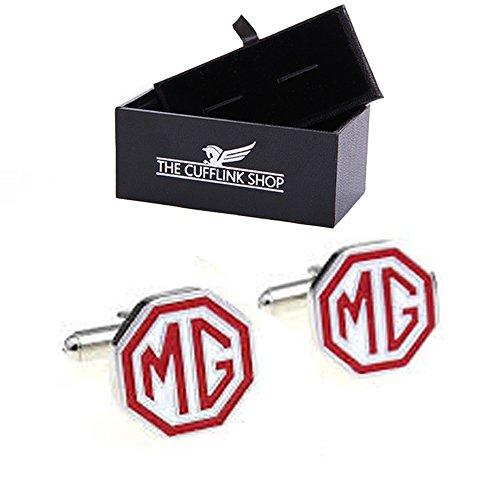 Novità in acciaio inox progettare MG auto logo gemelli con confezione regalo di lusso