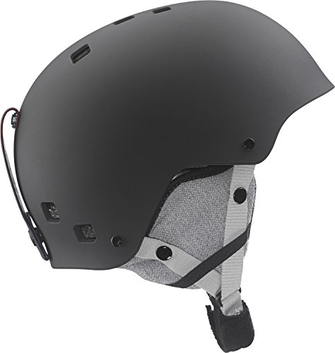 Salomon L37773000_Black Mat_51-55 - Casco da sci, S, colore: Nero - Black Mat