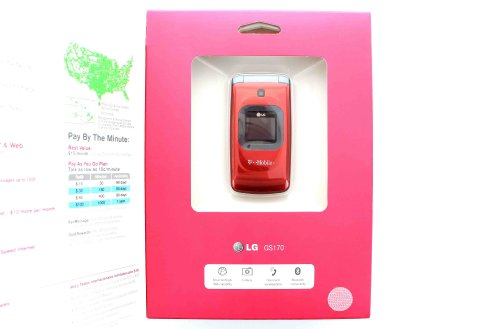 T-Mobile Prepaid LG GS170 No-Contract Mobile Phone Red