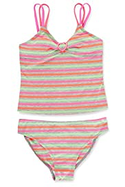 Fluro Striped Tankini