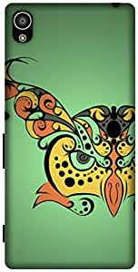 The Racoon Grip printed designer hard back mobile phone case cover for Sony Xperia Z5. (Hypnoowl G)