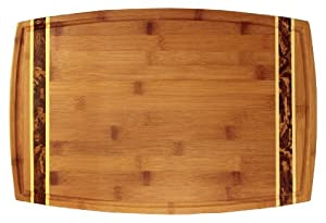 Totally Bamboo Marbled Bamboo Cutting Board, 18-Inch