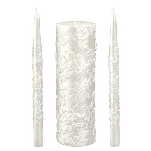 Amscan Classic Pearlized Unity Candle Set, Pearl