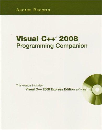 Visual C++ 2008 Programming Companion